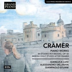 Cramer: Studio per il Pianoforte (84 Études in 4 books); Busoni: Eight Études after Cramer