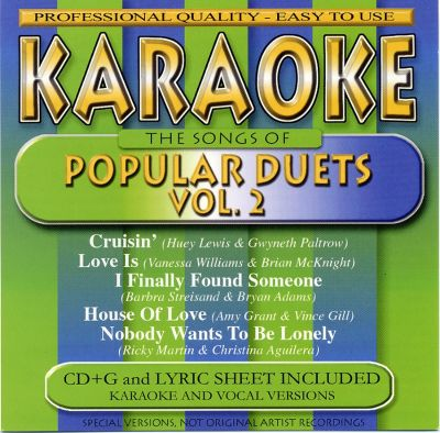 the songs of popular duets vol 2 karaoke songs reviews credits awards allmusic. Black Bedroom Furniture Sets. Home Design Ideas