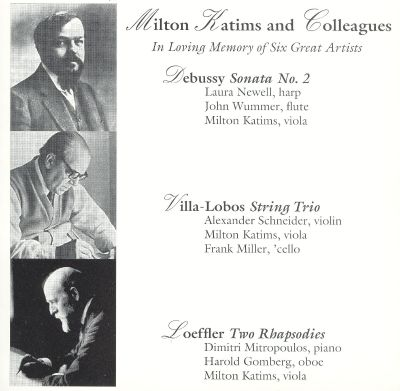 Milton Katims and Colleagues: In Loving Memory of Six Great Artists