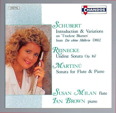 Schubert; Reinecke; Martinu: Flute & Piano Works
