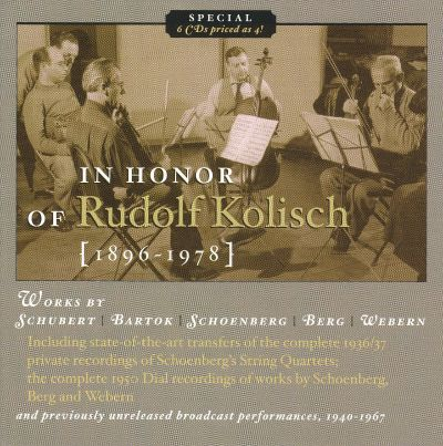 In Honor of Rudolf Kolisch - Rudolf Kolisch | Release Info | AllMusic
