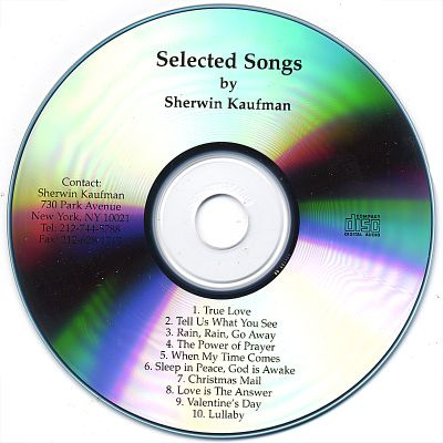 Selected Songs by Sherwin Kaufman