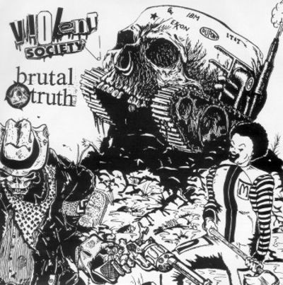Brutal Truth/Violent Society [Split EP]