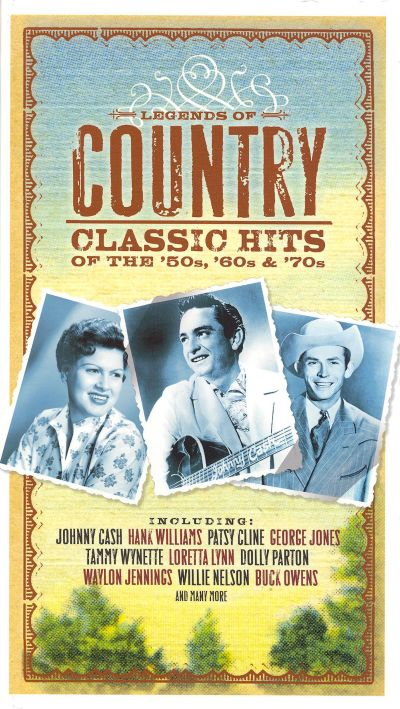 legends of country classic hits from the 39 50s 39 60s 39 70s various artists songs reviews. Black Bedroom Furniture Sets. Home Design Ideas