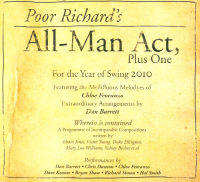 Poor Richard's All: Man Act, Plus One