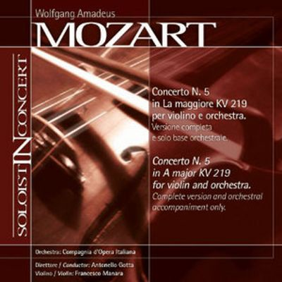 Mozart: Violin Concerto No. 5 (Complete version and orchestral accompaniment only)