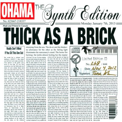 The Synth Edition: Thick as a Brick
