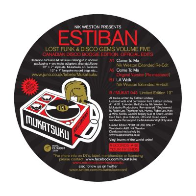 Lost Funk & Disco Gems Vol. 5: Canadian Disco Boogie Edition: Official Edits