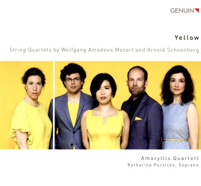 Yellow: String Quartets by Wolfgang Amadeus Mozart and Arnold Schoenberg