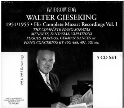 Walter Gieseking: 1951/1955, His Complete Mozart Recordings, Vol. 1