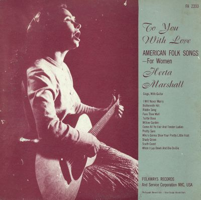 To You with Love: American Folk Songs for Women
