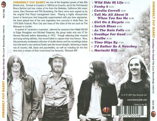 Goodbye for Good: The Lost Recordings 1969-1972