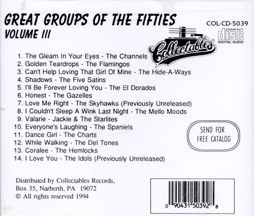 Great Groups of the Fifties, Vol. 3
