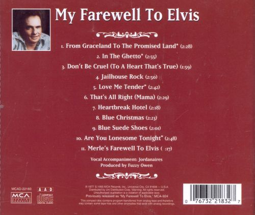 My Farewell to Elvis