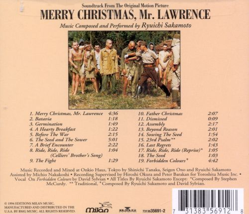 merry christmas mr lawrence original soundtrack - Ryuichi Sakamoto Merry Christmas Mr Lawrence