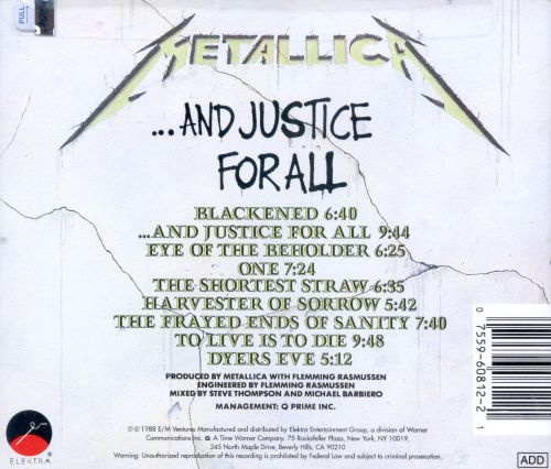 ...And Justice for All - Metallica | Songs, Reviews ...