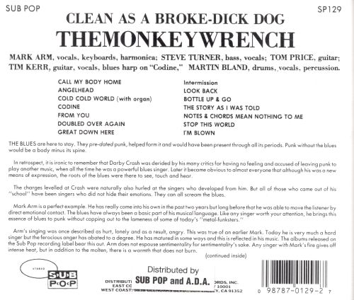 Clean As A Broke Dick Dog The Monkeywrench Songs Reviews