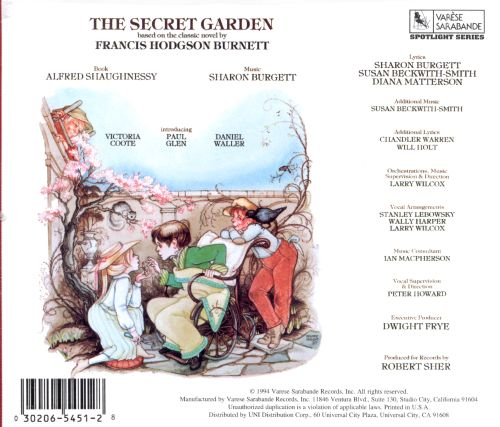 The Secret Garden [1988 Studio Cast]