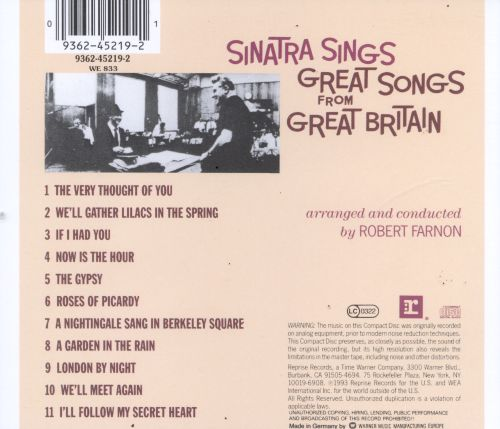 Delightful ... Sinatra Sings Great Songs From Great Britain