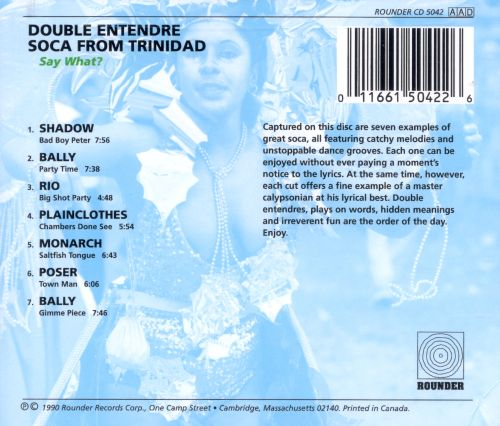 Say What Double Entendre Soca Various Artists Songs Reviews