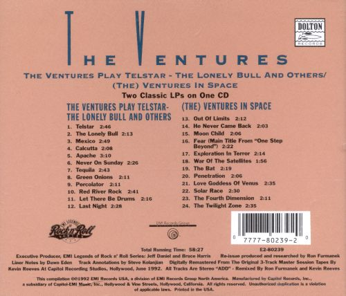 The Ventures Play Telstar -- The Lonely Bull and Others /(The) Ventures in Space