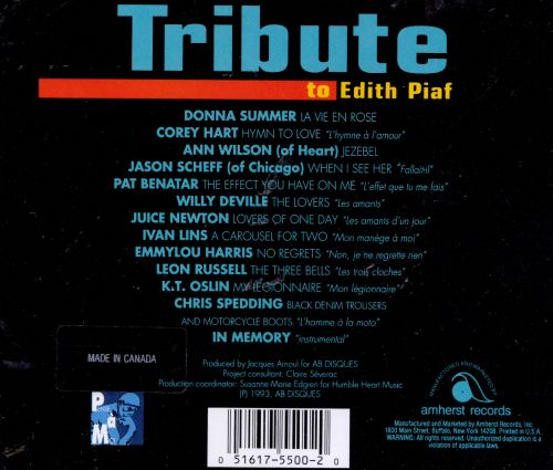 Tribute to Edith Piaf [Amherst]