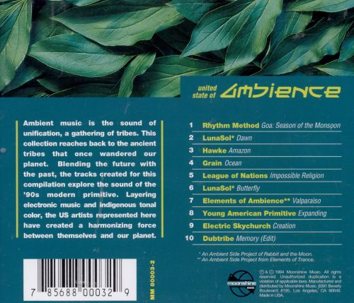 United State of Ambience, Vol. 1