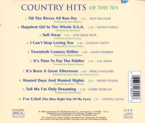 Country Hits of the 70's, Vol. 1