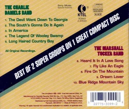 The Back to Back: The Charlie Daniels Band/The Marshall Tucker Band