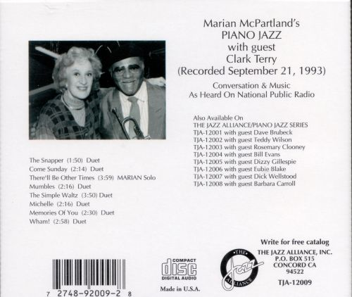 Marian McPartland's Piano Jazz with Guest Clark Terry