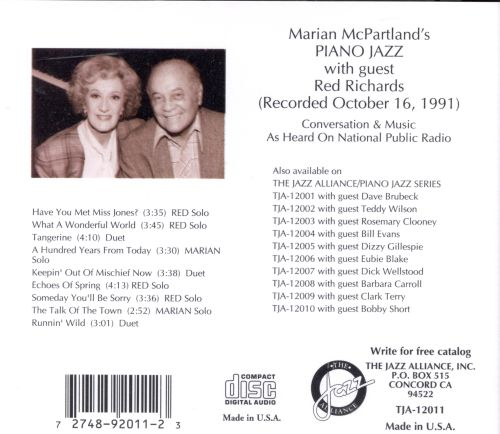 Marian McPartland's Piano Jazz with Guest Red Richards