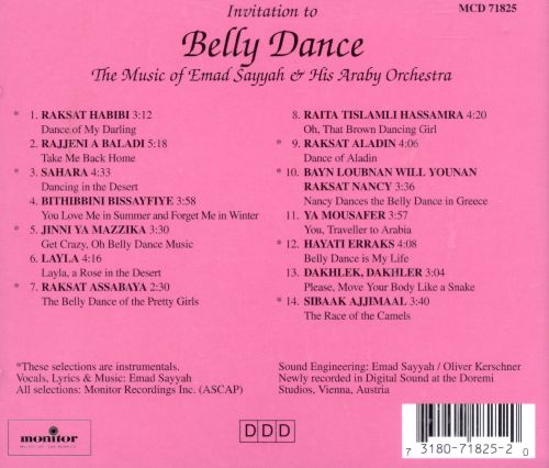 Invitation to belly dance emad sayyah his araby ensemble songs invitation to belly dance invitation to belly dance stopboris Gallery