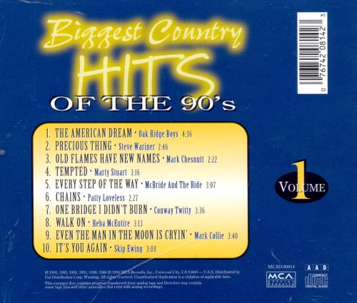 Biggest Country Hits of the 90s, Vol. 1