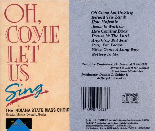 Oh Come Let Us Sing