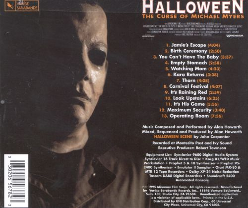 Halloween 6: Curse of Michael Myers [Original Motion Picture ...