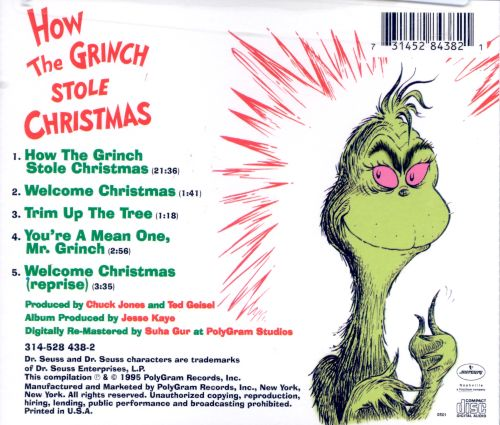 how the grinch stole christmas original soundtrack - How The Grinch Stole Christmas Video