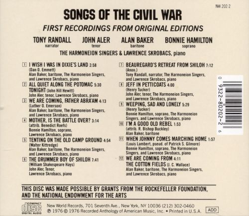 Songs of the Civil War [New World]