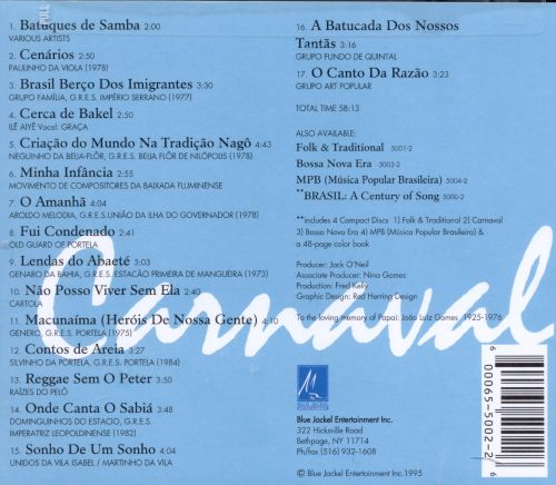 Brasil: A Century of Song, Vol. 2: Carnaval