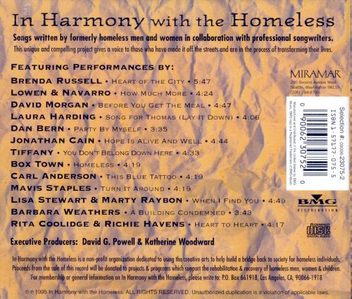 In Harmony with the Homeless