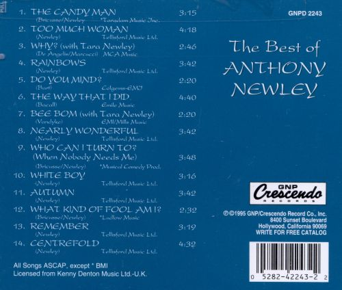 The Best of Anthony Newley [GNP Crescendo]