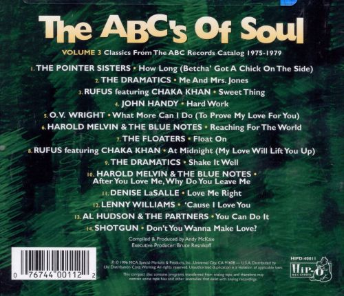 ABC's of Soul, Vol. 3: Classics from the ABC Records Catalog 1975-1979