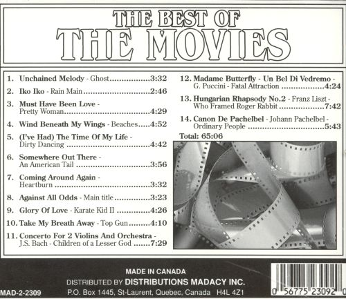 The Best of the Movies [Single Disc]