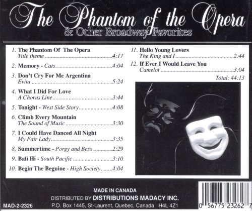 The Phantom of the Opera & Other Broadway Favorites