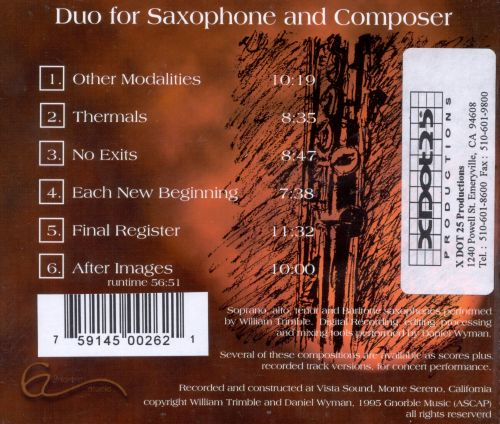 Duo for Saxphone & Composer