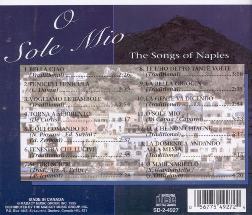 O Sole Mio: The Songs of Naples