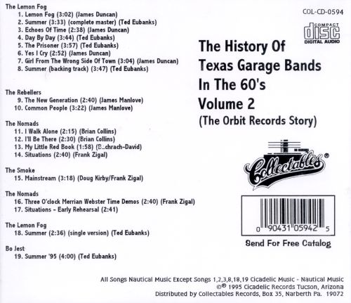 History of Texas Garage Bands In the '60s, Vol. 2