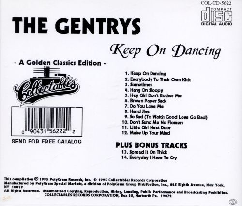 Keep On Dancing The Gentrys Songs Reviews Credits Allmusic