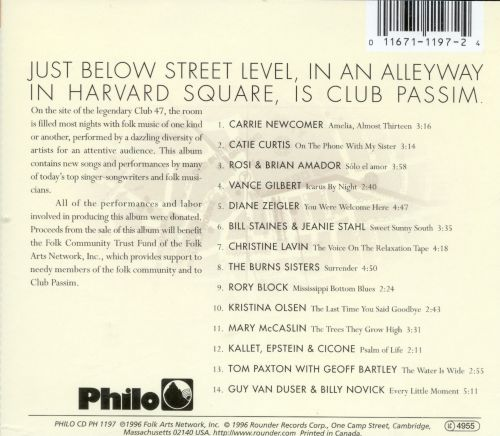 One More Song: An Album for Club Passim