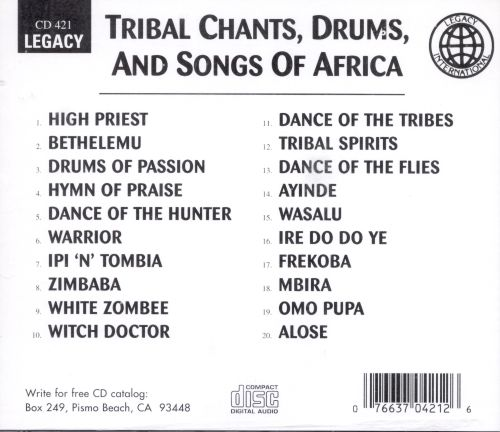 Tribal Chants, Drums & Songs of Africa