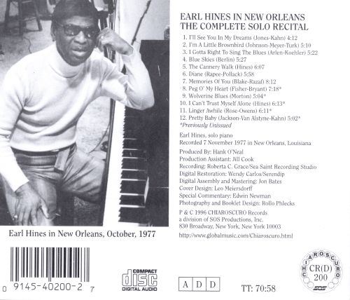 Earl Hines in New Orleans
